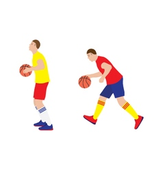 Basketball player with the ball vector