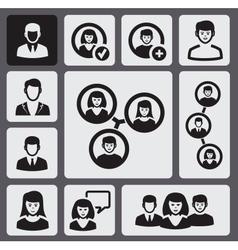 black people vector image