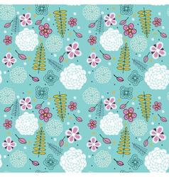 Blue floral pattern vector image