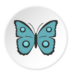 Butterfly with circles on wings icon circle vector