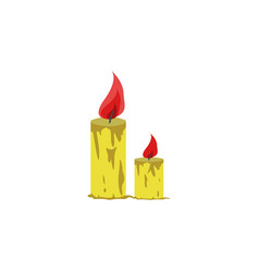 candles color icon element of christmas and new vector image