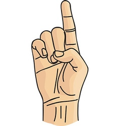 Cartoon hand gesture vector
