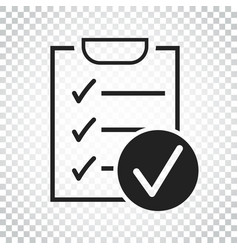 checklist icon survey in flat design on isolated vector image