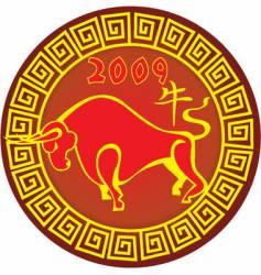 Chinese ox zodiac vector