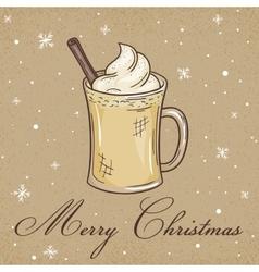 Christmas kraft paper card vector