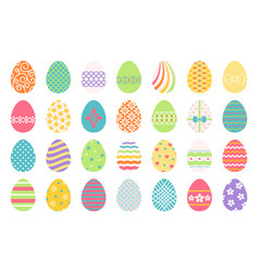 Colored easter eggs icons vector