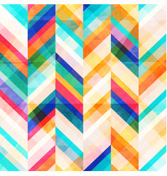 colored zigzag seamless pattern vector image