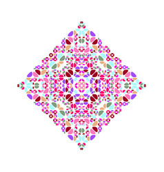 Colorful isolated ornate stone diagonal square vector