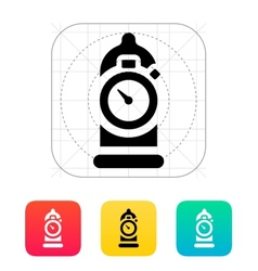 Condom with sex timer icon vector