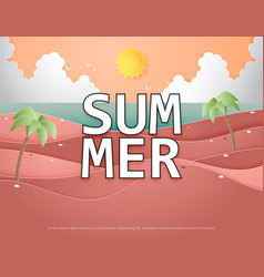 creative summer background concept with landscape vector image