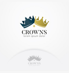 Crown of kings and queens logo vector