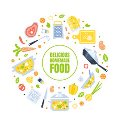 Delicious homemade food banner template vector