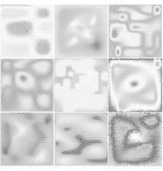 dotted texturehalftone monochrome retro vector image