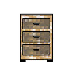 Drawing cabinet file archive document office vector