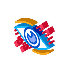 Eyelid correction surgery isometric icon vector