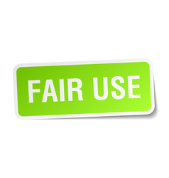 Fair use square sticker on white vector