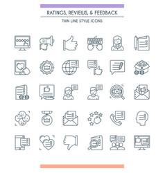 Feedbacks and ratings icon set vector