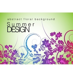 floral background abstract design vector image vector image