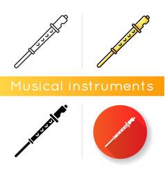 Flute icon vector