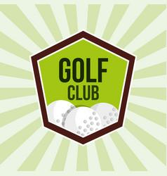 golf club balls sport tournament emblem vector image