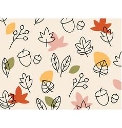 Hand drawn autumn background vector