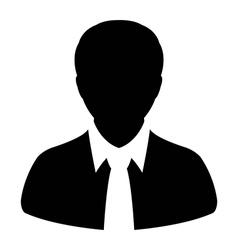 Human man user profile avatar glyph icon vector