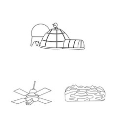 Isolated object space and galaxy sign set of vector