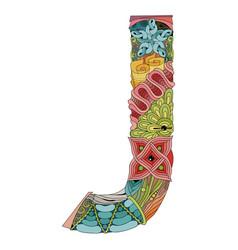 Letter j entangle decorative object vector