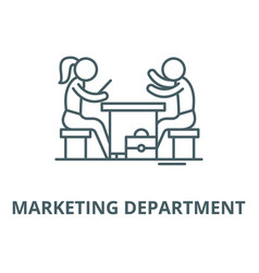 Marketing department line icon linear vector