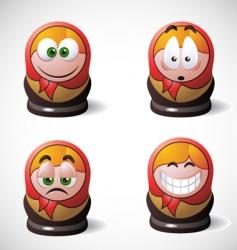 Matryoshka icons vector