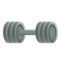 metal barbell icon cartoon style vector image