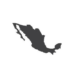 Mexico map silhouette vector