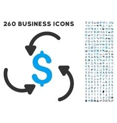 Money Swirl Icon with Flat Set vector