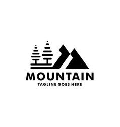 mountain scenery logo design vector image