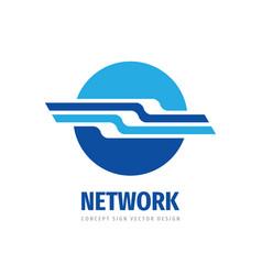 network logo design global technology icon vector image