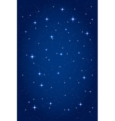 Night starry background vector image