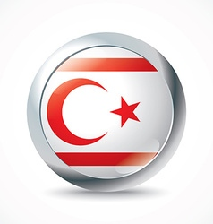 Northern Cyprus flag button vector image