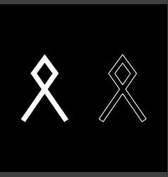 Odal othil rune othala symbol estate heritage vector