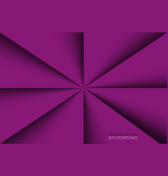 purple triangles background with shadows violet vector image