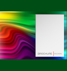 rainbow banner liquid shape template vector image