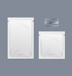 realistic detailed 3d white disposable foil sachet vector image