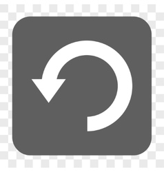 Rotate down rounded square button vector