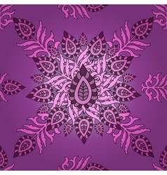 Seamless eastern pattern floral vector