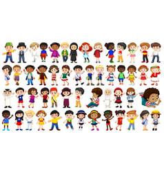 Set international kids character vector