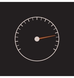 Speedometer or tachometer symbol with arrow on a vector