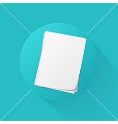 stack papers icon vector image