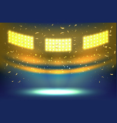 stadium arena lights vector image