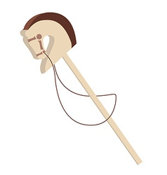 Stick horse vector image