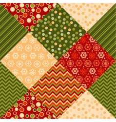 Traditional ornament patchwork pattern seamless vector