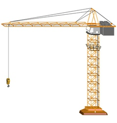 Tridimensional crane vector